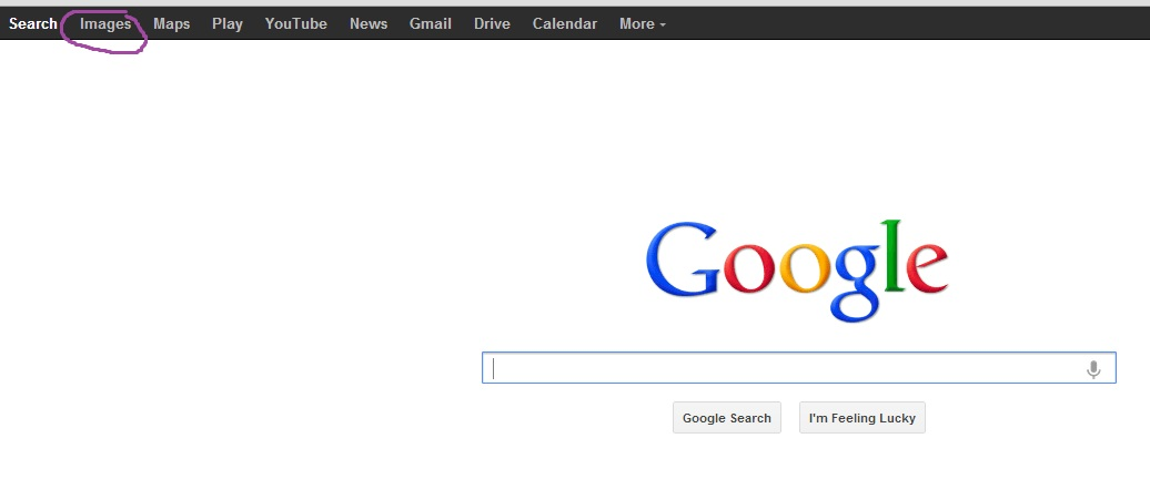 how to return to google search page